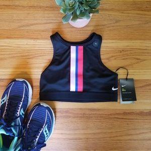 NWT Nike Black Stripe Racerback Sports Bra XS